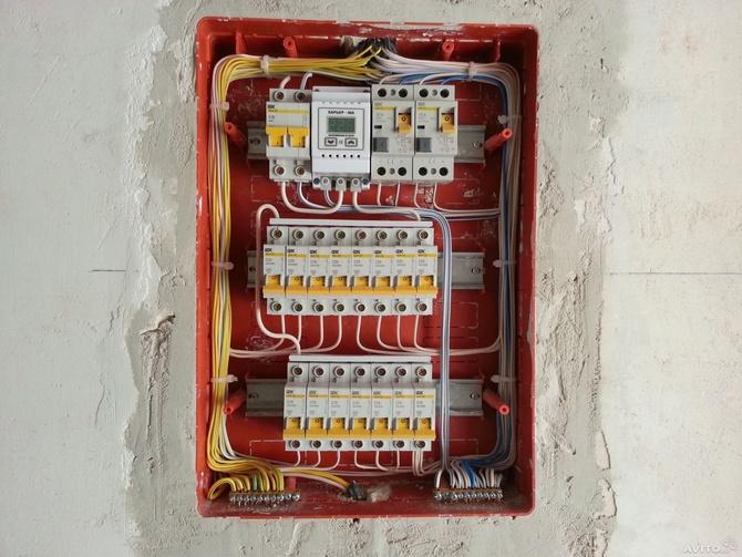 Замена электропроводки в щитке