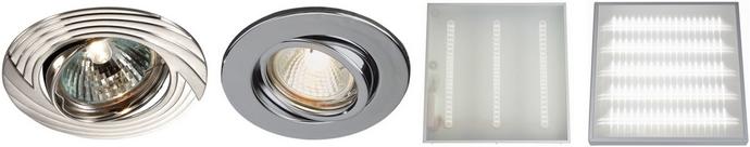 Установка точечных светильников и светильников «Армстронг»