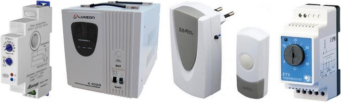 Установка реле приоритета, стабилизатора напряжения, звонка с кнопкой и реостата регулировки теплого пола