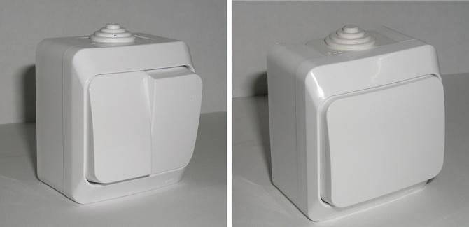 Выключатель с одной и двумя кнопками