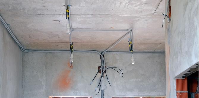 Монтаж электропроводки освещения